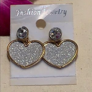 Jewelry - New gold & silver sparkle glitter CZ post earrings